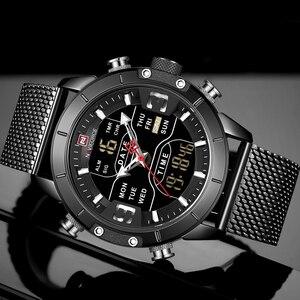 Image 3 - New NAVIFORCE Men Watches Top Luxury Brand Mens Dual Display Military Sport Watch Male Fashion Waterproof Quartz Wrist Watch