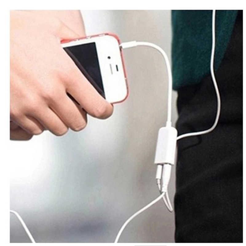 Aux Splitte 3.5mm podwójne gniazdo słuchawkowe Splitter mikrofon Audio Adapter 2 w 1 wtyczka słuchawkowa mikrofon otwór na telefon komórkowy