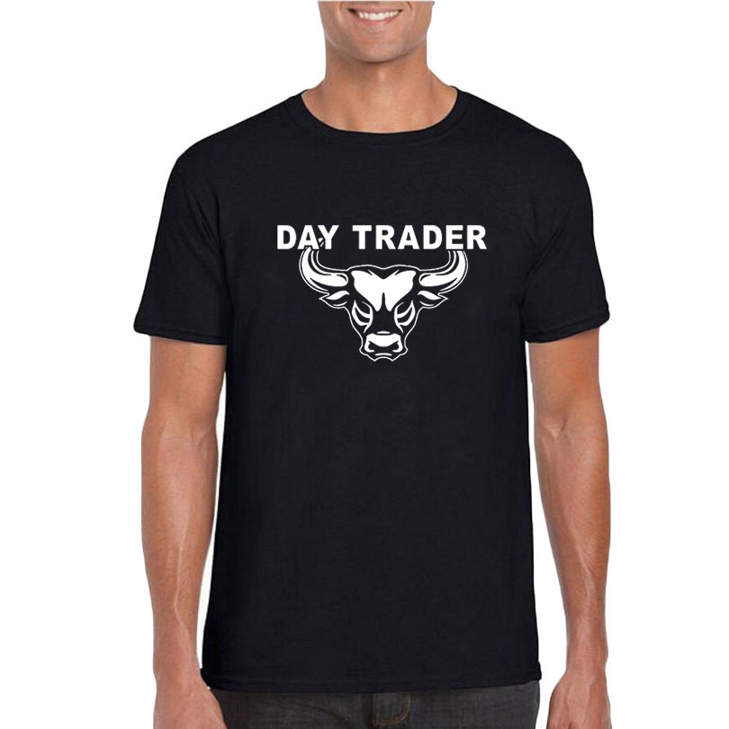Día de comercio camiseta Bitcoin mágico Bull Mercado de Valores hombres Funny gráficos Wall Street moda día comerciante camiseta