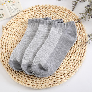 Image 4 - 10 Pairs/lot Summer Men Socks Cotton Casual Antibacterial Breathable Mesh thin section solid color Men socks Male New Short Sock