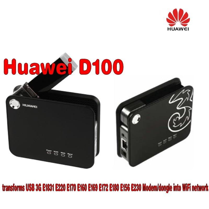 Unlocked HuaWei D100 3G WIFI Portable Broadband Wireless Gateway Router