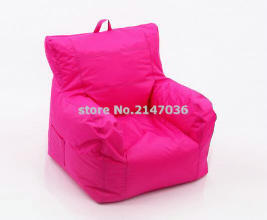 with side pocket and handle design big joe pink Fashion fabric armchair furniture, relax bean bag armchair