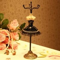 Camicia del merletto della principessa del metallo dei monili banco di mostra della collana mostro rack orecchino appeso mensola del supporto del braccialetto zakka decorazione dono
