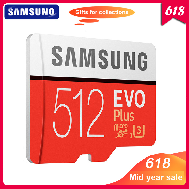 100 Original SAMSUNG Micro SD Card 512GB 100Mb s Class10 U3 U1 SDXC Grade EVO Micro