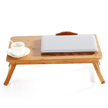 Foldable Portable Adjustable Bamboo Computer Stand Laptop Desk Notebook Desk Laptop Table For Bed Sofa Bed Tray Studying Tables
