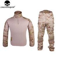 EMERSONGEAR Gen2 боевой костюм тактические рубашка брюки с Локоть Наколенники камуфляжная одежда армия военная форма mcad EM6970