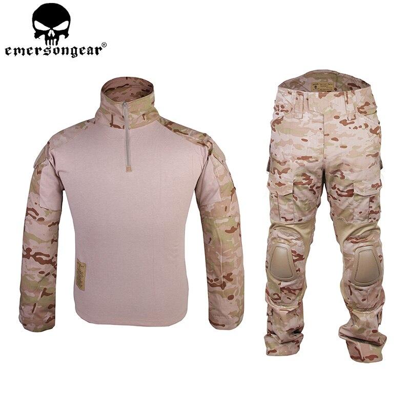 Emersongear Gen2 Kampf Anzug Tactical Hemd Hosen Mit Knie Ellenbogen Pads Camouflage Kleidung Armee Militär Uniform Mcad Em6970 StäRkung Von Sehnen Und Knochen Sportbekleidung Sport & Unterhaltung