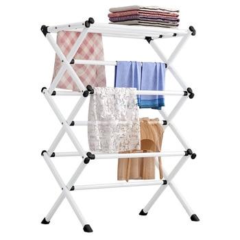 Porte-manteau En Métal Simple Pliant Peinture Fer Mode Vêtements Séchage étagère à Serviettes Détachable Portable Stockage à La Maison Rack