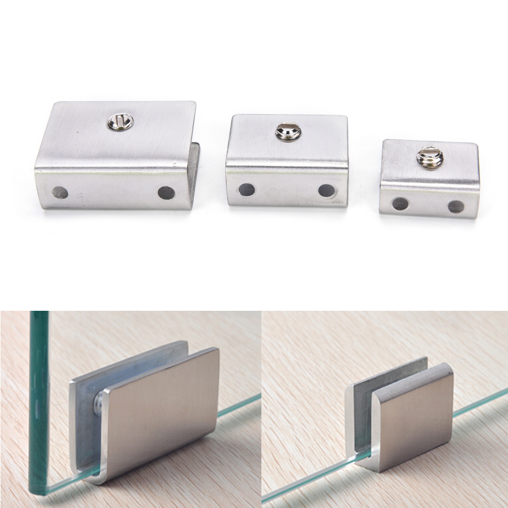 4Pcs Rectangular Shape Glass Clamp Glass Shelf Clamp Clip 6-12mm 3Colors Wholesale