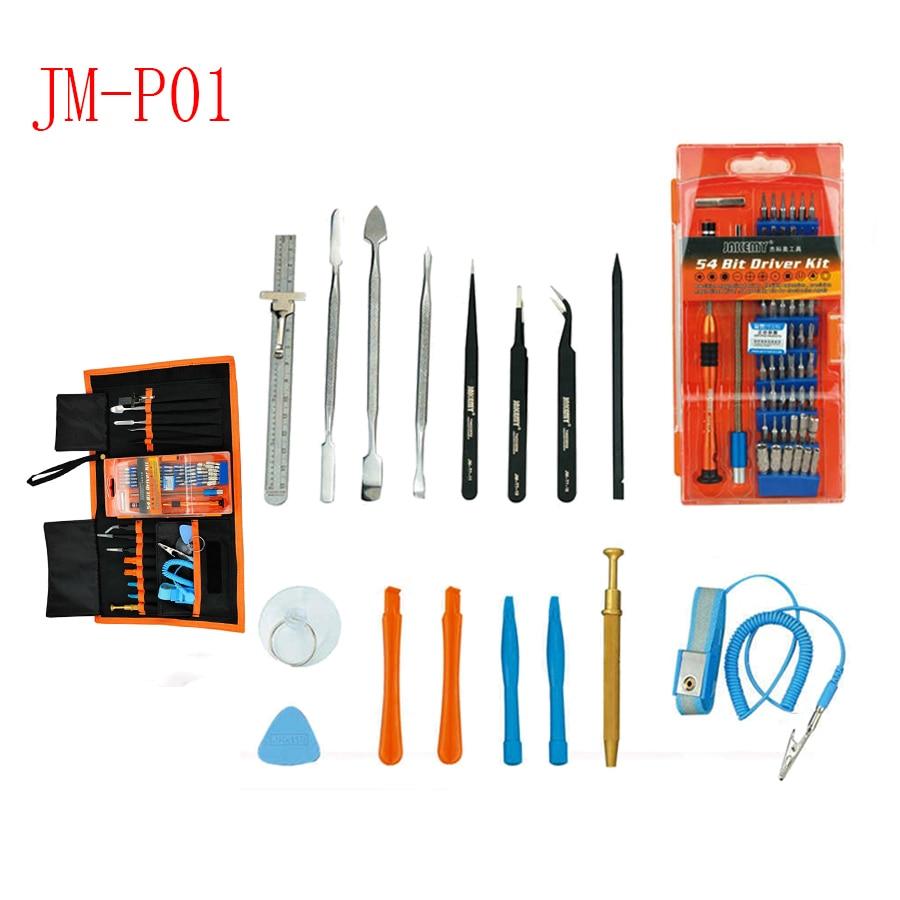 JAKEMY JM-P01 70 dans 1 crewdriver set outils, pince à épiler Spudger Kit Indiscrets, démonter outil pour Macbook iPhone Samsung Tablet PC