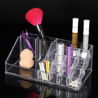 New Makeup Organizer Chic Cosmetic Jewelry Case Lipstick Brush Insert Holder Box Sale