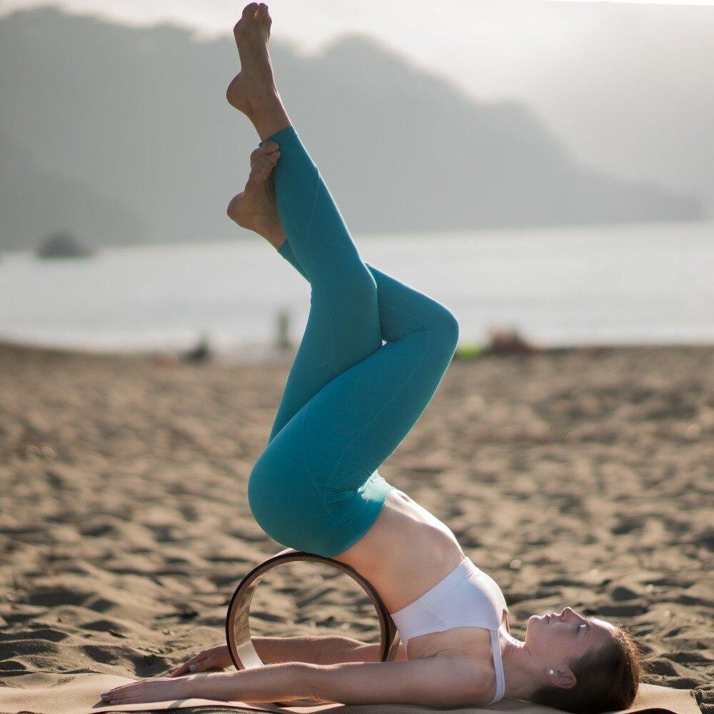 2018 Ruota di Yoga Pilates Professionale TPE Yoga cerchi di Allenamento di Ginnastica Posteriore Strumento di Formazione Per La Forma di Vita Bodybuilding Per Il Fitness