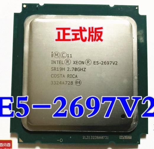 Процессор Intel xeon e5 2697 v2 2,7 ГГц 30M QPI 8GT/s LGA 2011 SR19H C2 2697 v2, процессор E5 V2