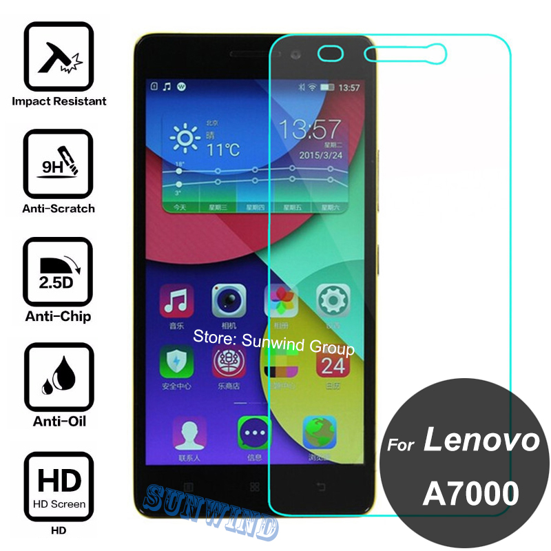 For Lenovo A7000 Tempered Glass 9H 2.5D Safety Screen Protector Protective Film On A 7000 Plus K3 Note K50-T5 Dual Sim