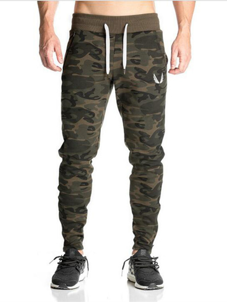 2018 Heißer Verkauf Jogginghose Herren Workout Bodybuilding Kleidung Casual Camouflage Männer Jogginghose Jogger Hosen Dünne Hosen Up-To-Date-Styling