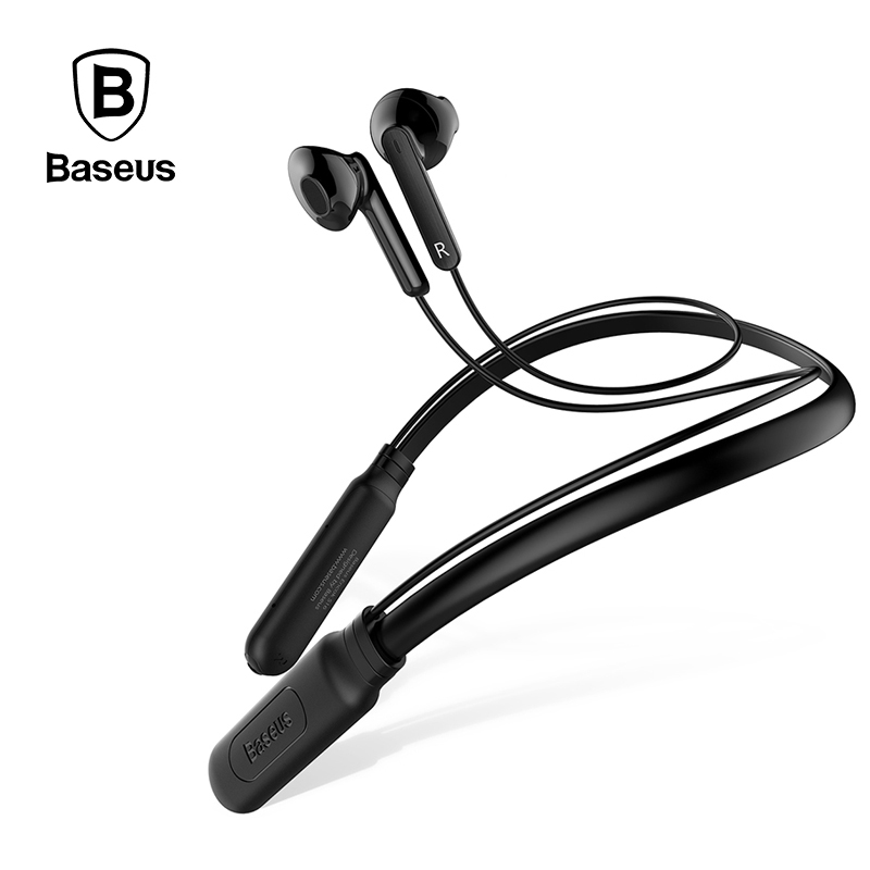 Baseus S16 Wireless Bluetooth Earphone Neckband Headphone Sport Music Earbuds With Microphone For iPhone Xiaomi Fone De Ouvido zomoea wireless headphone bluetooth v4 2 earphone sport headset earbuds with mic for xiaomi ipone mobile phone fone de ouvido