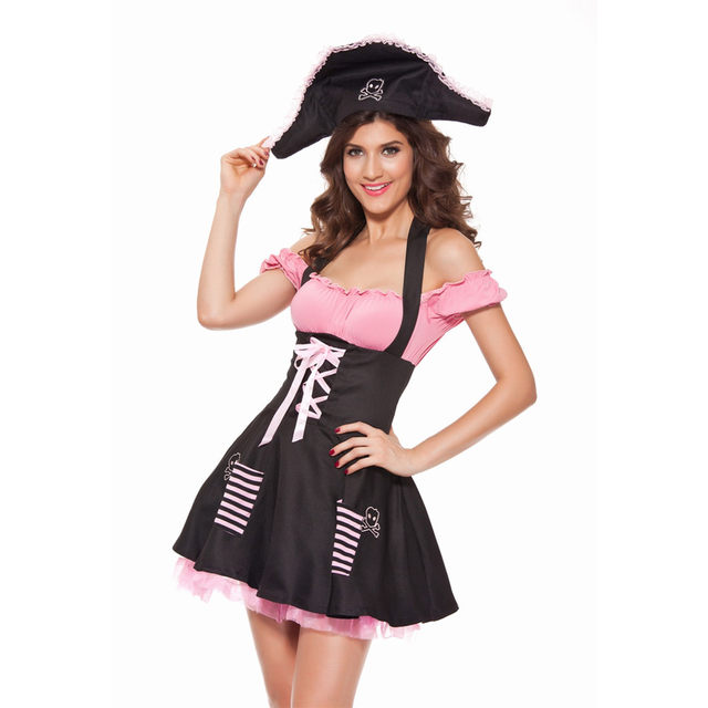 New Pirate Female Temptation Sexy Uniform Dress Sexy Women Pirate Costume Halloween Costume  sc 1 st  Aliexpress & Online Shop New Pirate Female Temptation Sexy Uniform Dress Sexy ...