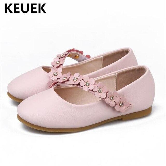 0540339fa Nuevos zapatos de cuero para niños niñas princesa suave inferior zapatos  casuales bebé niño zapatos de
