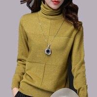 Autumn and winter 2018 new Korean women's thin Slim turtleneck women short cashmere sweater tide
