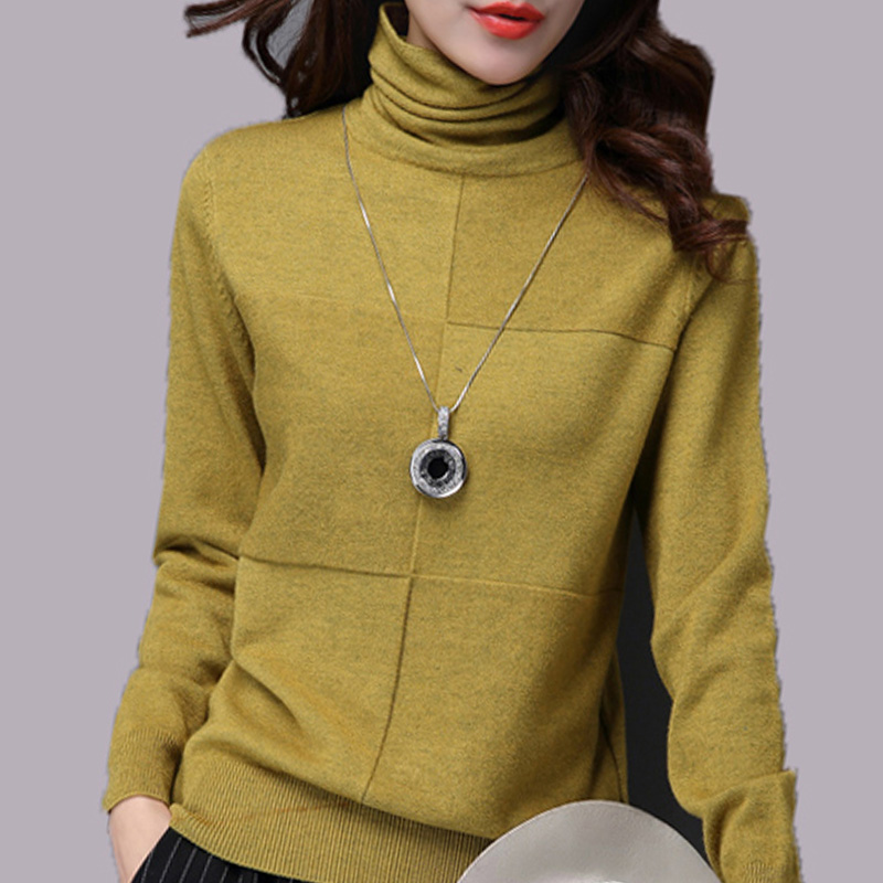 Otoño y el invierno de 2018 nuevo coreano mujer delgada Slim cuello corta de las mujeres de Cachemira suéter marea