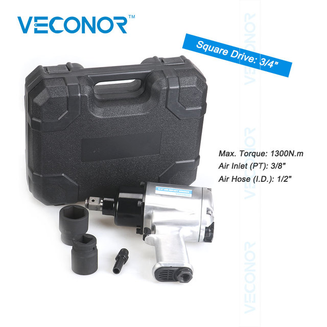 "Veconor industrial type 3/4"" Sq. Dr. air impact wrench pneumatic socket wrench power socket tools twin hammer"