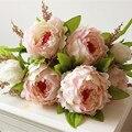 (7 cabeças/bunch) 2016 New. Silk/Simulação/flor Artificial flor Peônia bouquet. Free grátis.