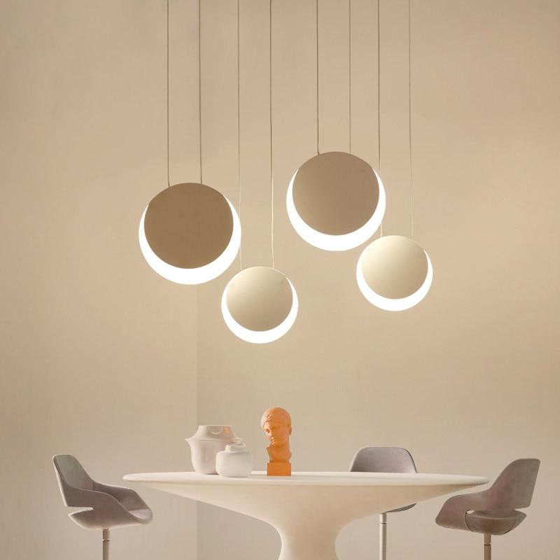 Modern LED Pendant Lights For Dining room Bar Creative Acrylic LED Pendant Lamp luminaire suspendu Hanging Lighting AC 100 265V|Pendant Lights| |  - title=