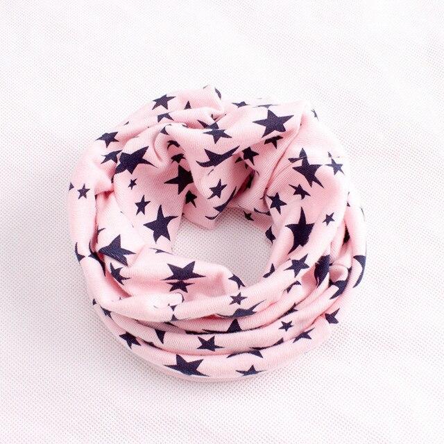 Stars Print Ring Scarves for children Warmer Scarf Autumn Winter Kids Boys Girls Neckerchief Collar Hat Mask 2