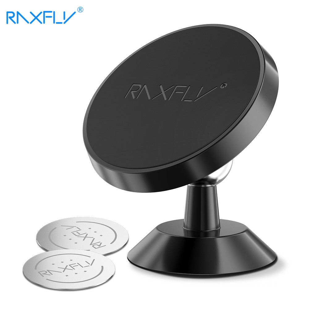 RAXFLY 360 Rotation Magnetic Phone Car Holder For iPhone X 8 7 Plus Universal Magnet Phone Stand Holder For Samsung GPS Bracket