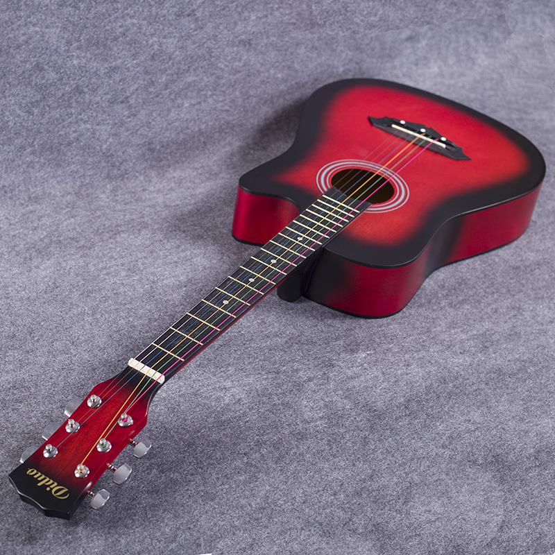 free shipping a length of 96 cm38 inch folk basswood niumu metal string guitar new beginner to. Black Bedroom Furniture Sets. Home Design Ideas