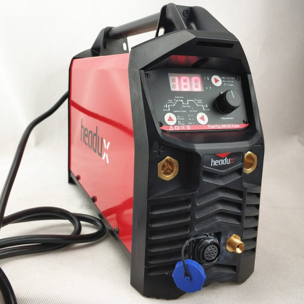 Digital IGBT 200A TIG Pulse Welding Machine Hot Start HF Ignition Anti-Stick Arc-Force CE WIG MMA Inverter Welding Equipment professional 200a digital ac dc pulse tig welding machine ac dc pulse tig mma ce approved igbt inverter tig aluminum welding