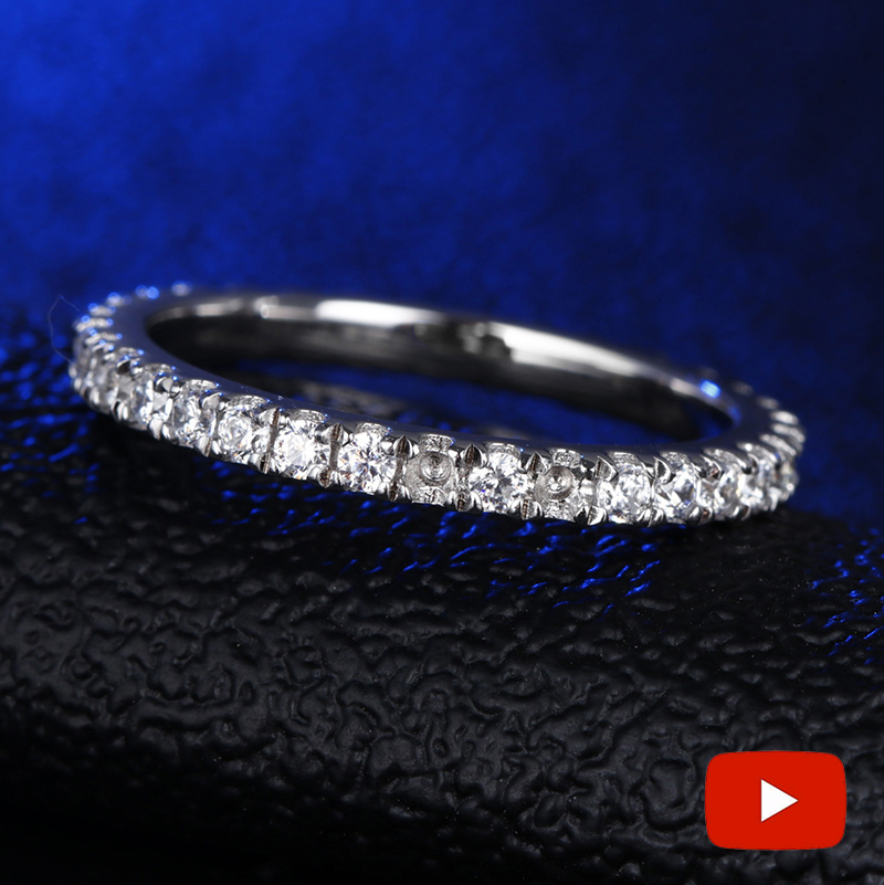 Round Cut NOT FAKE S925 Sterling Silver Ring SONA Diamond Halo Fine Ring Unique Style Love