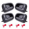4pcs Inside Front + Rear Inner Door Handle for Toyota Corolla GEO Prizm 1993 1994 1995 1996 1997 69206-12130 69205-12130
