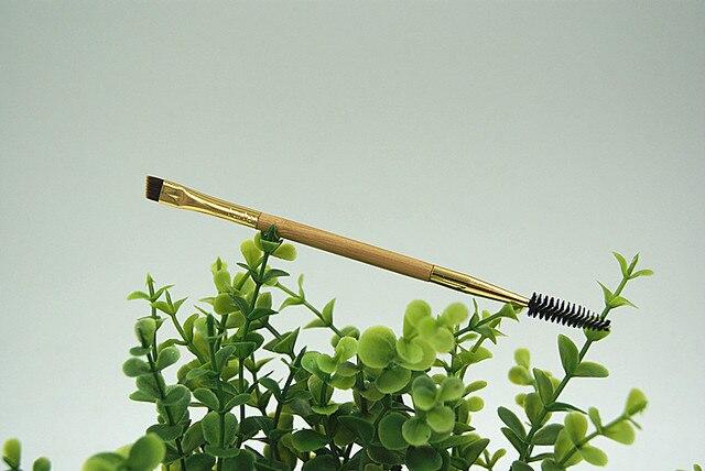 Brand Bamboo Double Angled Eyebrow Brush+ Eyelash Comb Eye Detail Makeup Brushes Eyelash EyeBrow Beauty Tool 1