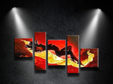 Free shipping!100%Hand-painted Modern Abstract Dance Oil Painting on Canvas Art Wall For Home Decoration 5 pcs/set