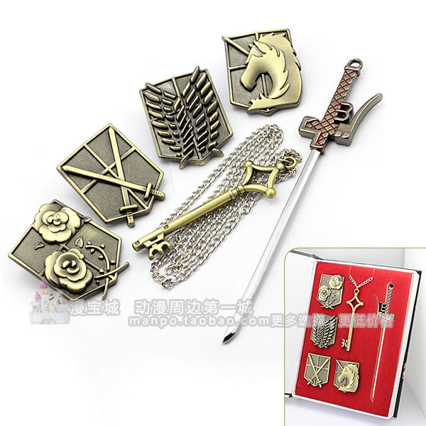 Shingeki No Kyojin Attack On Titan Giant Wing Emblem Rose Training Key Cos Long Allen потребительские товары fairy tail shingeki kyojin b2345 shingeki no kyojin