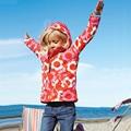 Crianças outono windcheater Meninas de esqui-desgaste, criança Casacos de flor de maçã verde rosa vermelho cores Com Zíper Com Capuz frete grátis