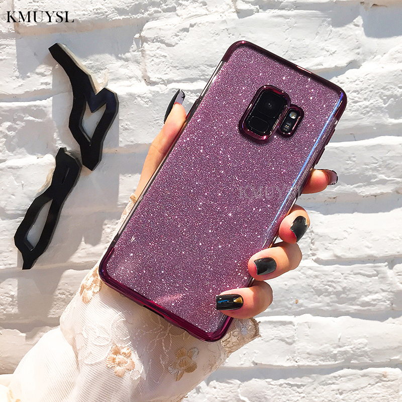 Bling Silicone Soft <font><b>Case</b></font> Cover for <font><b>Samsung</b></font> <font><b>Galaxy</b></font> S8 S9 Plus A3 A5 A7 J3 J5 J7 2016 2017 J4 J6 Note9 A6 <font><b>A8</b></font> Plus 2018 <font><b>Phone</b></font> <font><b>Cases</b></font> image
