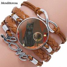 Beautiful CAT LOVE glass / metal bracelets