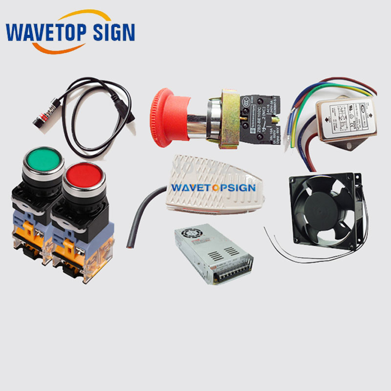fiber laser mark machine electrical part/ filter +fun+red lights+power box+electrical keys. копилка лисичка