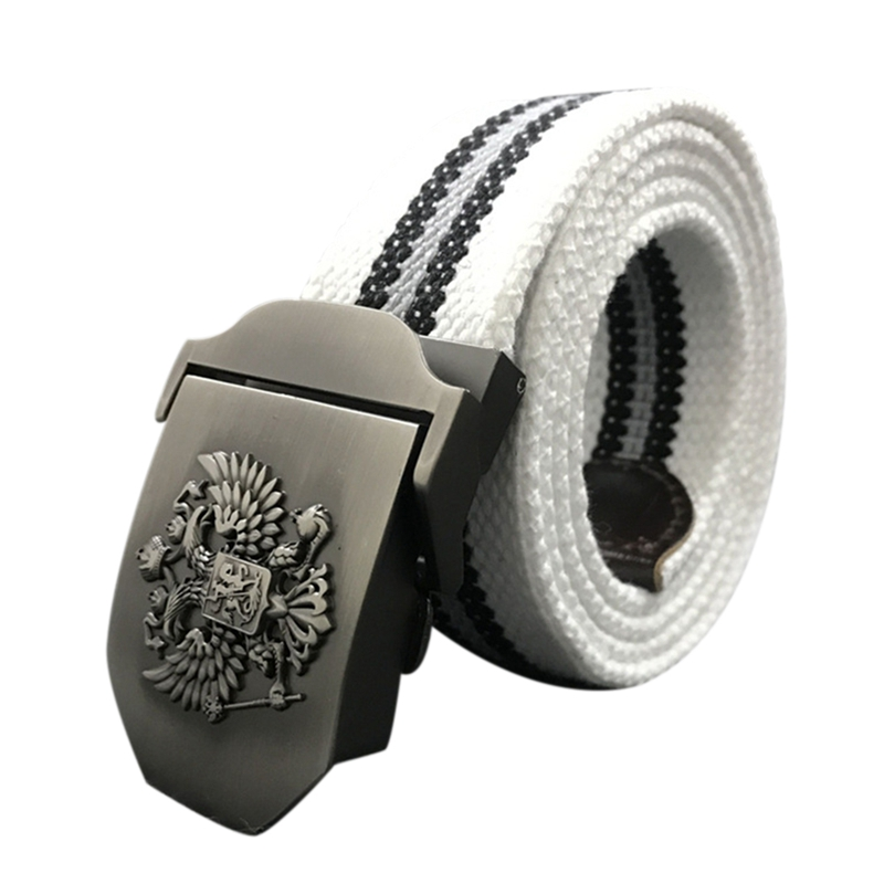 Unisex Russian National Emblem Canvas Tactical Belts