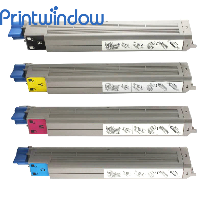 Printwindow Compatible Toner Cartridge for OKI CX3641 4 pack high quality toner cartridge for oki c9850 c9850hdn c9850n c9850dn color compatible 42918904 42918903 42918902 42918901