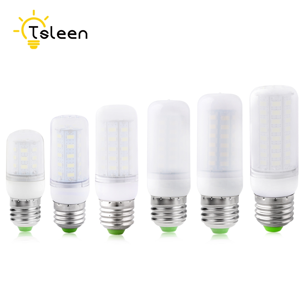 10Pcs SMD 5730 Lampada LED Lamp E27 110V 220V Corn Light LED Bulbs 220V Chandelier Candle Luz 24 36 48 56 69 72LEDs Ultra Bright