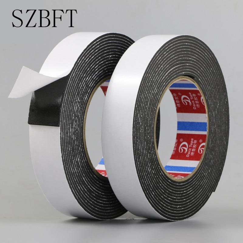 1Pcs Super Sticky 2mm Thickness 5m Length  EVA Sponge Double - Sided Foam Tape Waterproof EVA Black Foam Tape