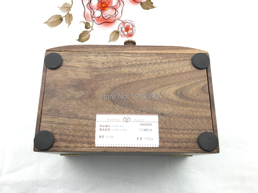 Liefde Walnoot Hout : Tones houten muziekdoos massief hout walnoot muzikale dozen