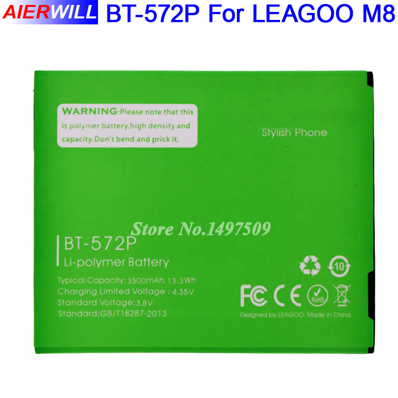 BT-572P For Leagoo M8 Battery for Leagoo M8 Pro Batterie Bateria Accumulator 3500mAh