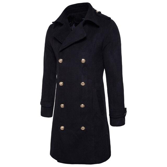 Long Men Coats Jackets S2XL...