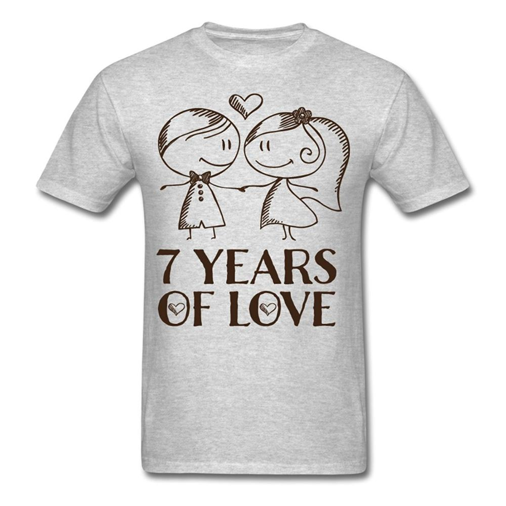 Shirt design for couples - Summer The New Fashion Men S Crew Neck Short Design T Shirts 7th Wedding Anniversary Love Couple
