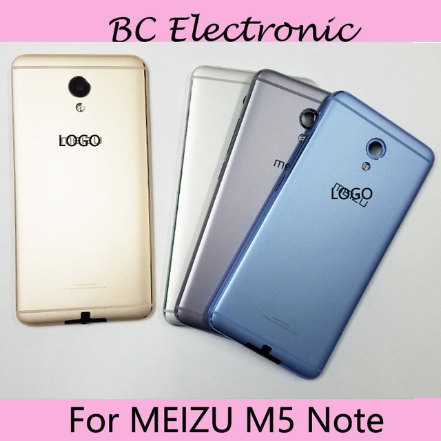 With LOGO Battery Back Cover Case For MEIZU M5 Note Housing Door Case Shell For MEIZU Meilan Note 5 with back camera glass