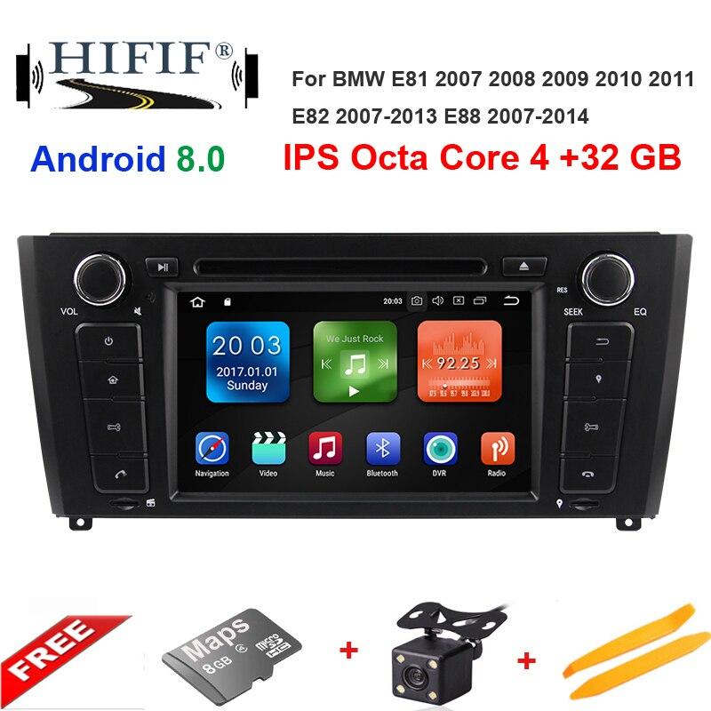 IPS DSP autoradio dvd wince pour BMW 1 série E81 E82 E87 (2004-2012) E88 116i 118i avec bluetooth BT 1080 P carte Ipod